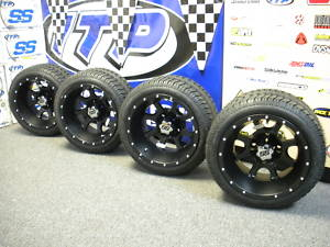 Mygppro Ss108 Black Golf Cart Wheels 12